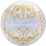 "22"" Anniversary Classic Bubble Balloon"